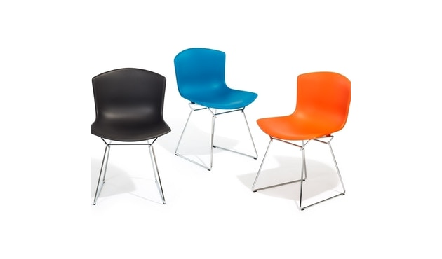 Knoll International - Bertoia Plastic Side Chair - weiß - Gestell weiß - 2