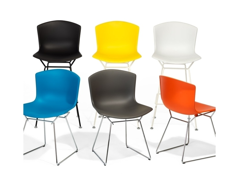 Knoll International - Tabouret de bar Bertoia Plastic  - rouge orange - blanc - 104 cm - 3