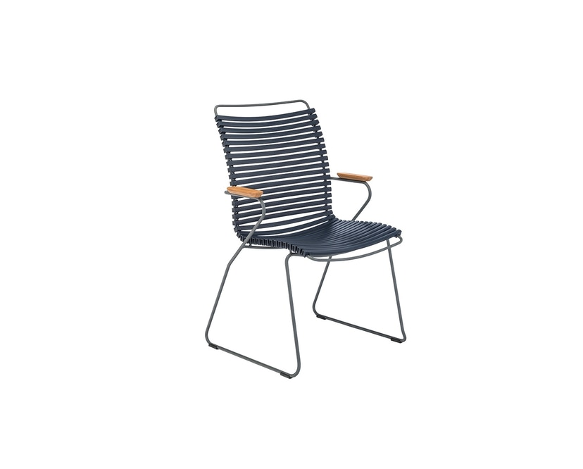 Houe - Click Dining Armlehnstuhl mit hoher Lehne - dunkelblau - 1