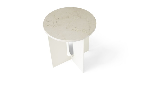 Menu - Tischplatte für Androgyne Side Table - Marmor elfenbein - 2