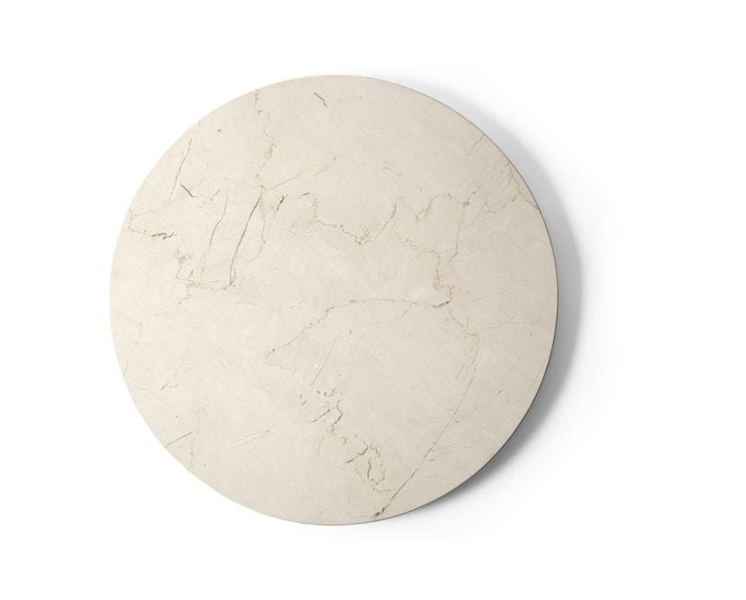 Menu - Tischplatte für Androgyne Side Table - Marmor elfenbein - 1