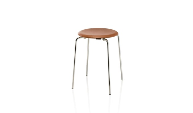 Fritz Hansen - Dot Hocker - Wildleder walnussfarben - 1