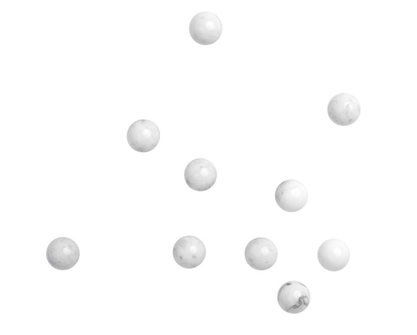 Schönbuch - Dots Stone Wandhaken - Marmor Bianco Carrara - Messing matt - 2