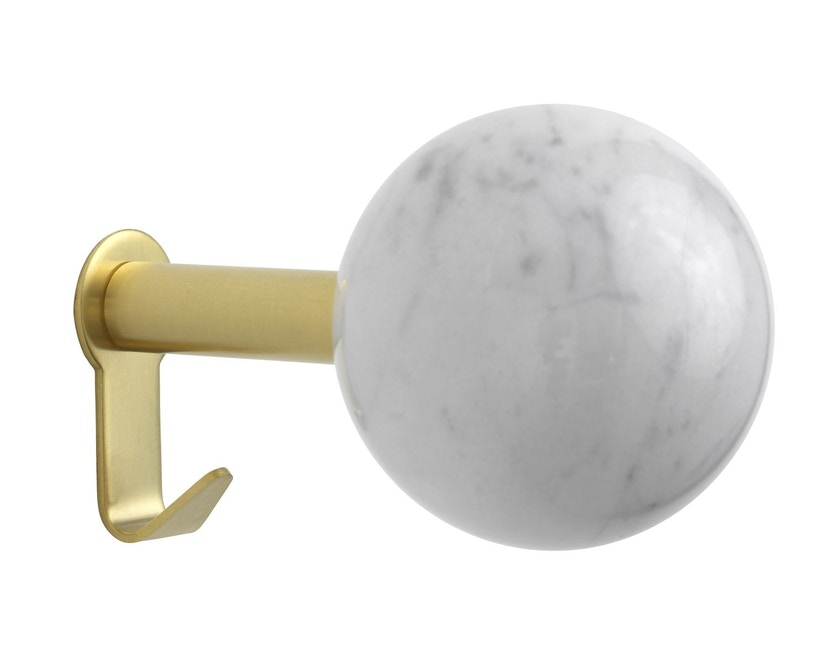 Schönbuch - Dots Stone Wandhaken - Marmor Bianco Carrara - Messing matt - 1