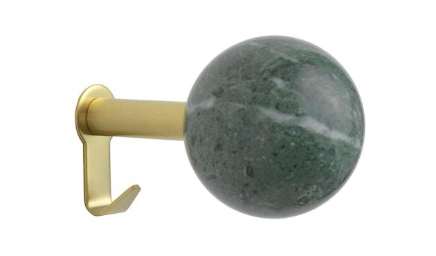 Schönbuch - Dots Stone Wandhaken - Marmor Verde Guatemala - Messing matt - 1