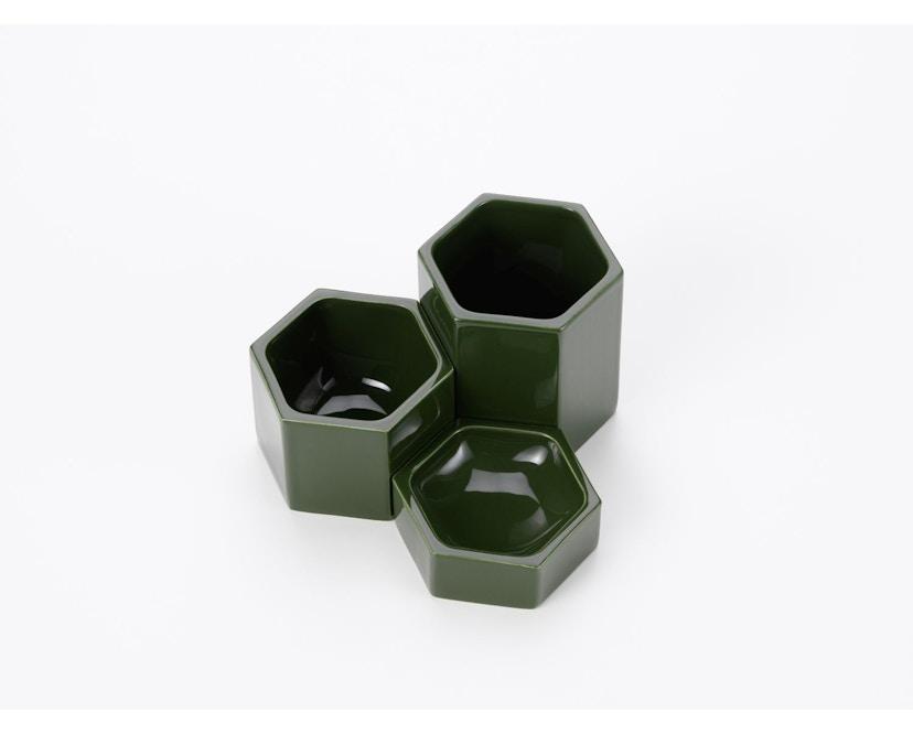 Vitra - Hexagonal Containers - dunkelgrün - 3er Set - 2