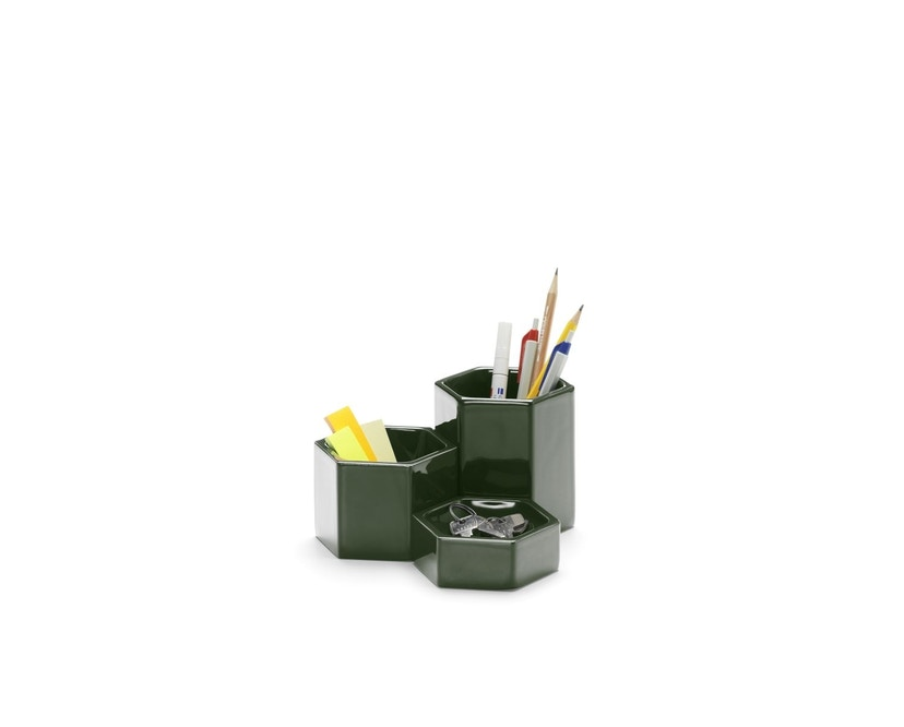 Vitra - Hexagonal Containers - dunkelgrün - 3er Set - 3