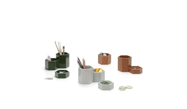Vitra - Hexagonal Containers - dunkelgrün - 3er Set - 4
