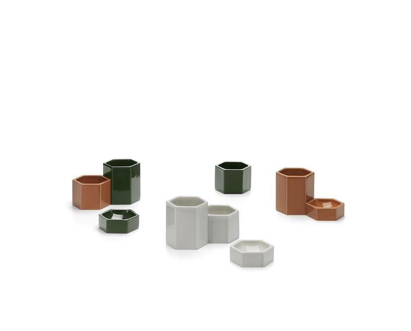 Vitra - Hexagonal Containers - dunkelgrün - 3er Set - 5