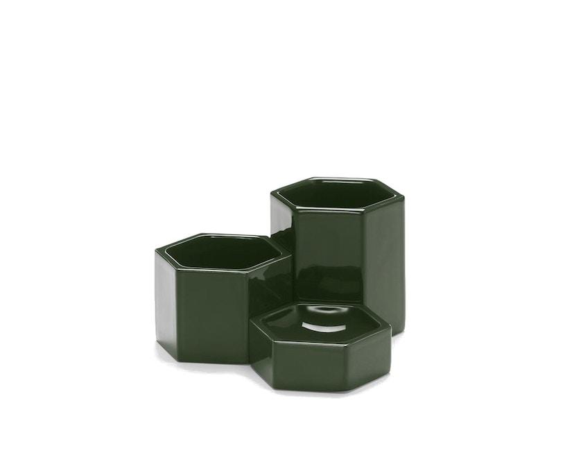 Vitra - Hexagonal Containers - dunkelgrün - 3er Set - 1