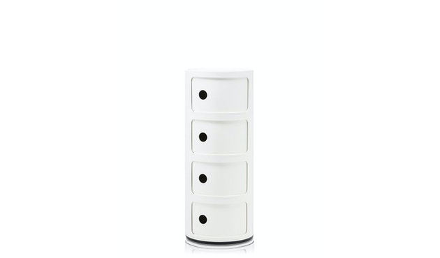 Kartell - Componibili Container - 4 Elemente - weiß - 1