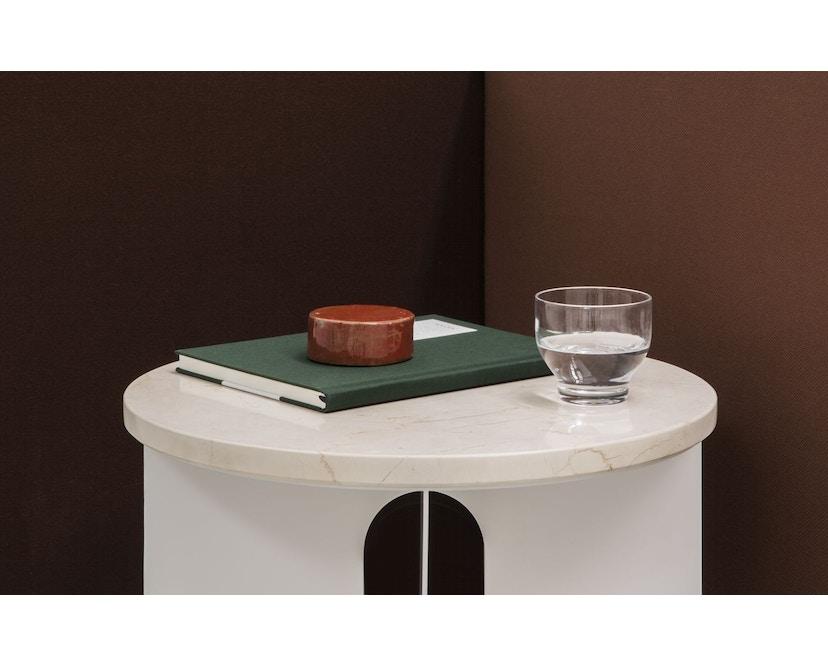 Menu - Tischplatte für Androgyne Side Table - Marmor elfenbein - 3