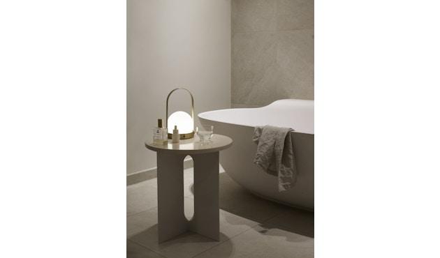 Menu - Tischplatte für Androgyne Side Table - Marmor elfenbein - 4