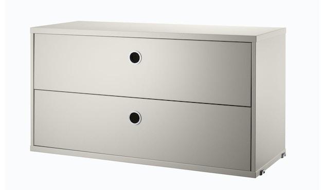String - Schubladenelement - beige - 78 x 42 x 30 cm - 1