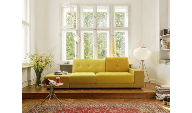 Vitra - Polder Sofa - Armlehne sitzend rechts - Stoffmix red - 3