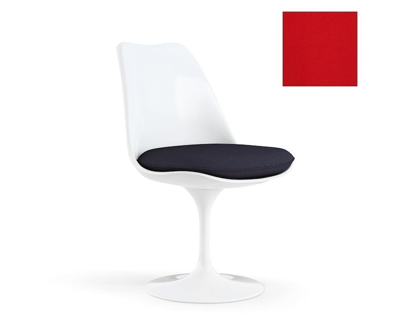 Knoll International - Saarinen Tulip Stuhl - Bezug Tonus Bright Red - Gestell weiß - Sitzkissen - 0