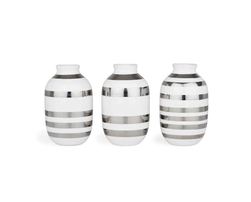 Kähler Design - Omaggio Vase-Miniatur 3er Set - silber - 1