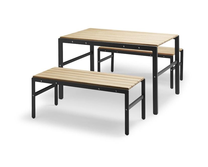Skagerak - Reform Tisch Teak - anthracite black - 2