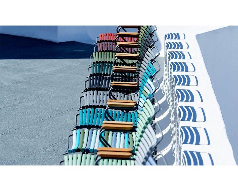 Houe - Click Dining Armlehnstuhl mit hoher Lehne - taubenblau - 3