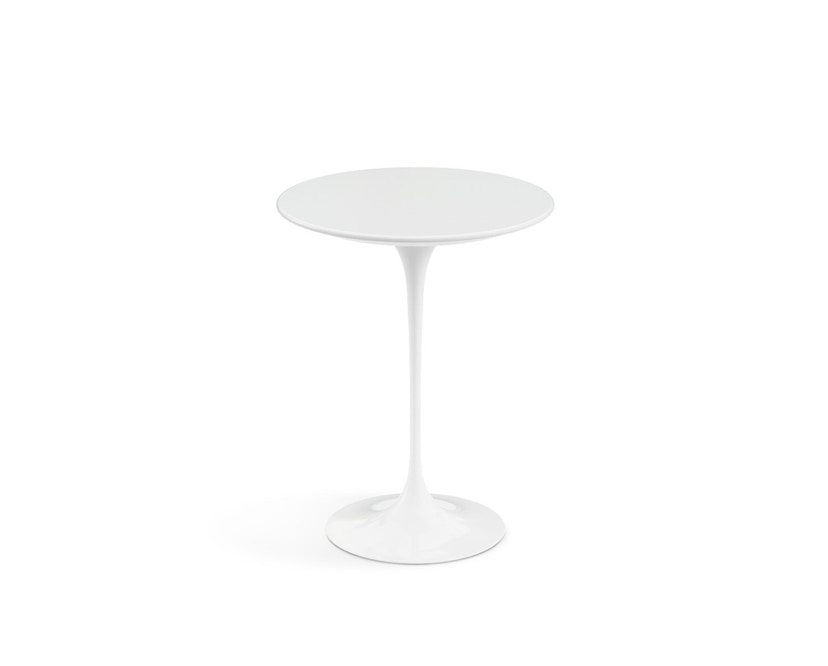 Knoll International - Bijzettafel Saarinen - rond - Ø 41 cm - wit - Laminaat wit - 1