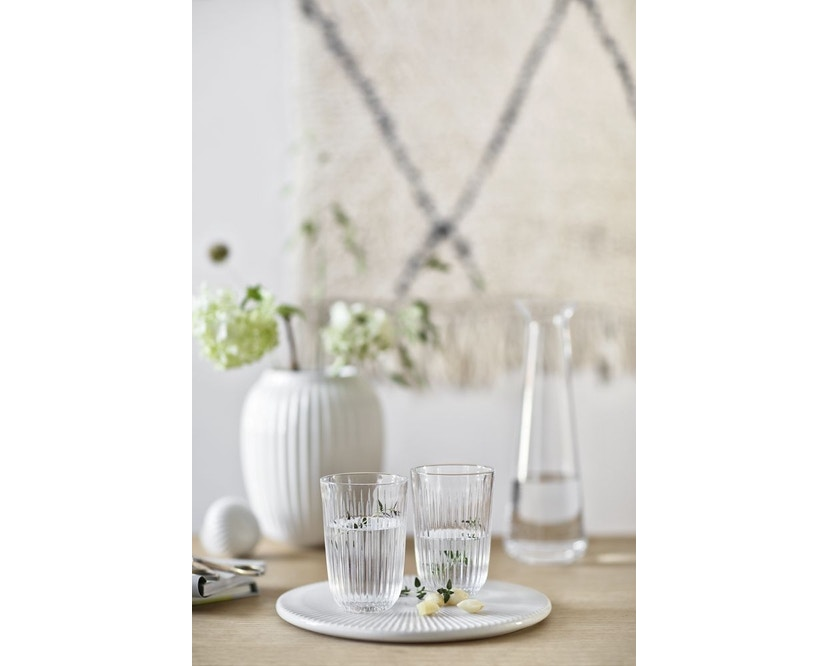 Kähler Design -  Hammershøi Vase - Höhe 12,5 cm - White - 2
