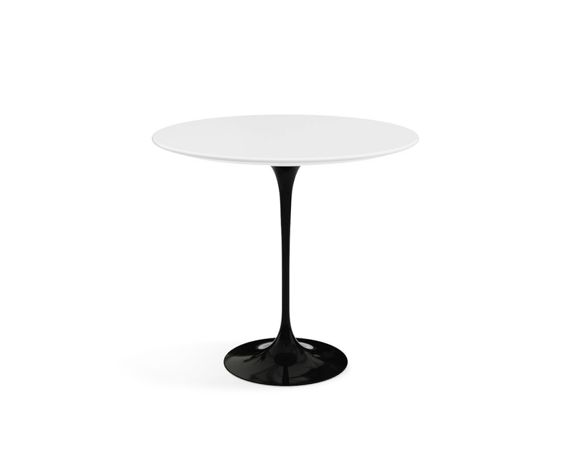 Knoll International - Saarinen bijzettafel - ovaal - Laminaat wit - zwart - 0