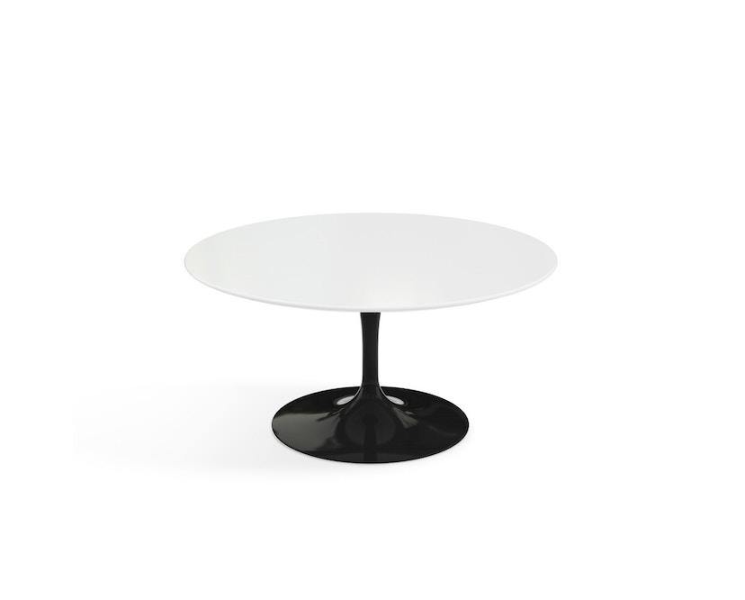 Knoll International - Saarinen Couchtisch - rund 91 Ø - Laminat weiß - Säulenfuß schwarz - 0