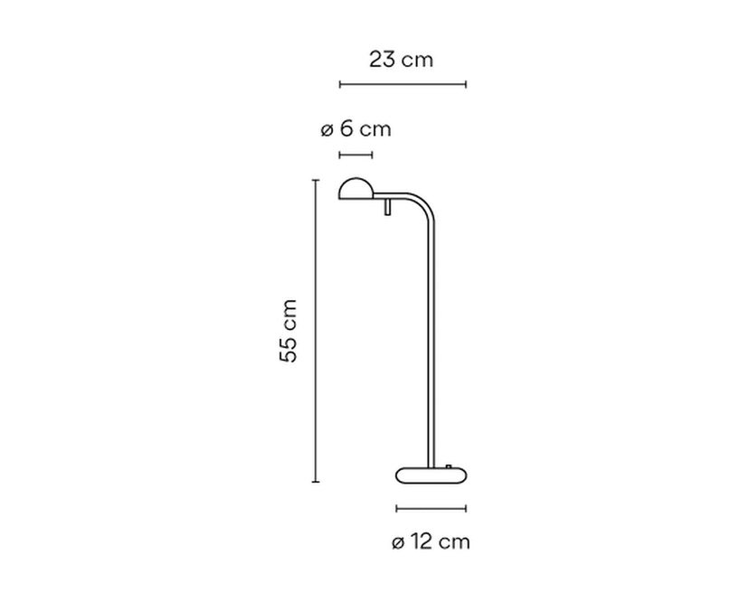 Vibia - PIN Tischleuchte - kurz - weiß matt - 2