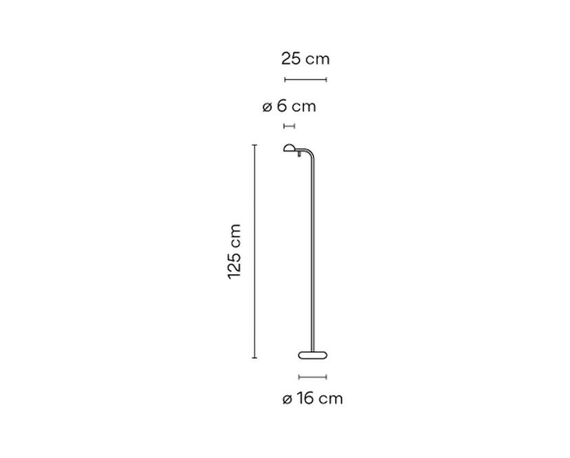 Vibia - PIN Stehleuchte - weiß matt - 6