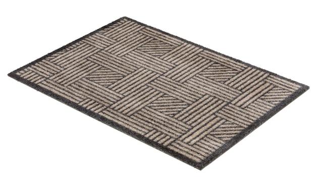 SCHÖNER WOHNEN-Kollektion - Manhattan Sauberlaufmatte - 50 x 70 cm - Streifengitter be-ant - 3