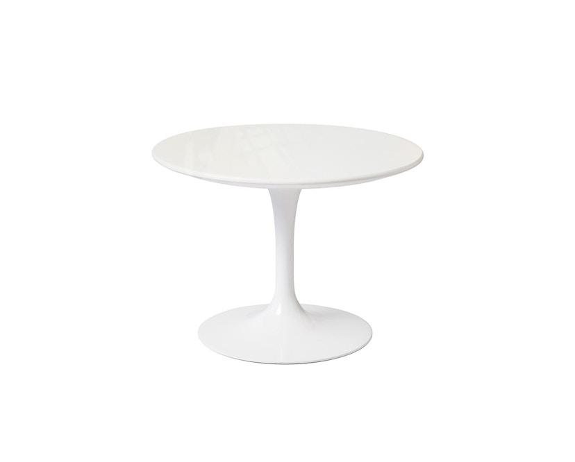 Knoll International - Saarinen Outdoor Couchtisch - rund 51 Ø - Säulenfuß weiß - weißer Akrylstein - 1