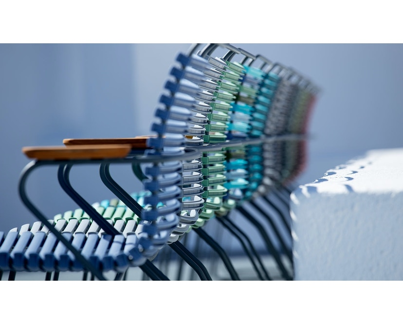Houe - Click Dining Armlehnstuhl mit hoher Lehne - taubenblau - 4