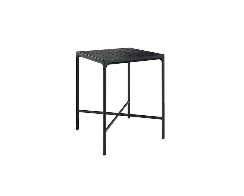 Houe - Four Outdoor Bar Tisch - Aluminium/schwarz - 90 x 90 cm - 1