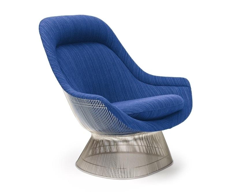Knoll International - Platner Easy Sessel - Circa schwarz - polierter Nickel - 1