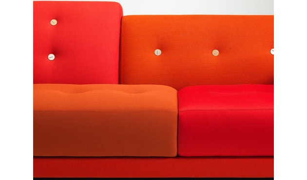 Vitra - Polder Compact Sofa - niedrige Armlehne sitzend rechts - Stoffmix red - 10