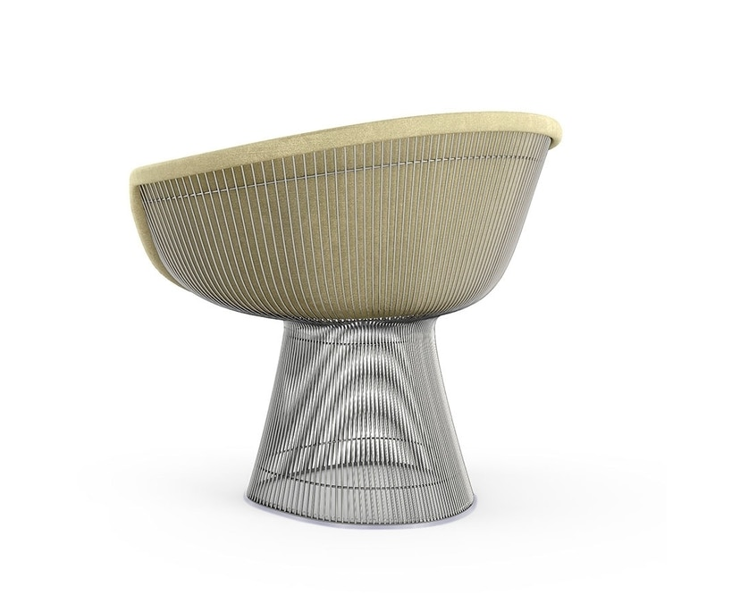 Knoll International - Platner Lounge Armlehnsessel - Circa elfenbein - polierter Nickel - 0