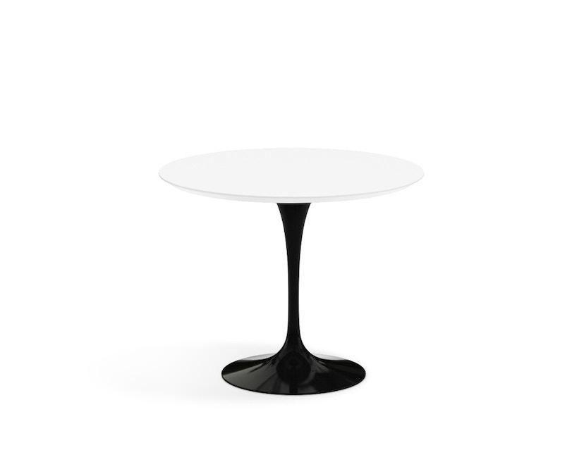 Knoll International - Saarinen Esstisch - rund 91 Ø - Laminat weiß - Säulenfuß schwarz - 0