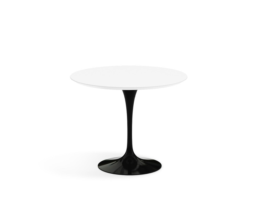 Knoll International - Saarinen Eettafel - rond - Ø 91 cm - zwart - Laminaat wit - 0