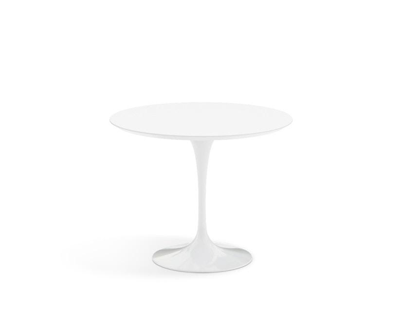 Knoll International - Saarinen Esstisch - rund 91 Ø - Laminat weiß - Säulenfuß weiß - 1