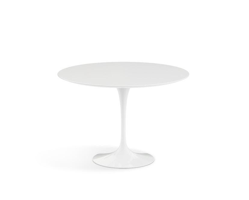 Knoll International - Saarinen Esstisch - rund 107 Ø - Laminat weiß - Säulenfuß weiß - 1