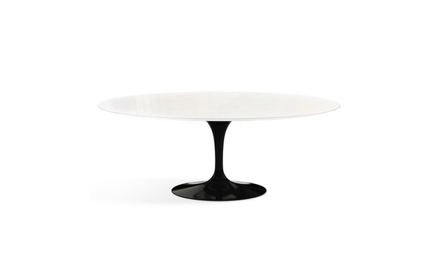Knoll International - Saarinen Outdoor Eettafel - ovaal - zwart - 1
