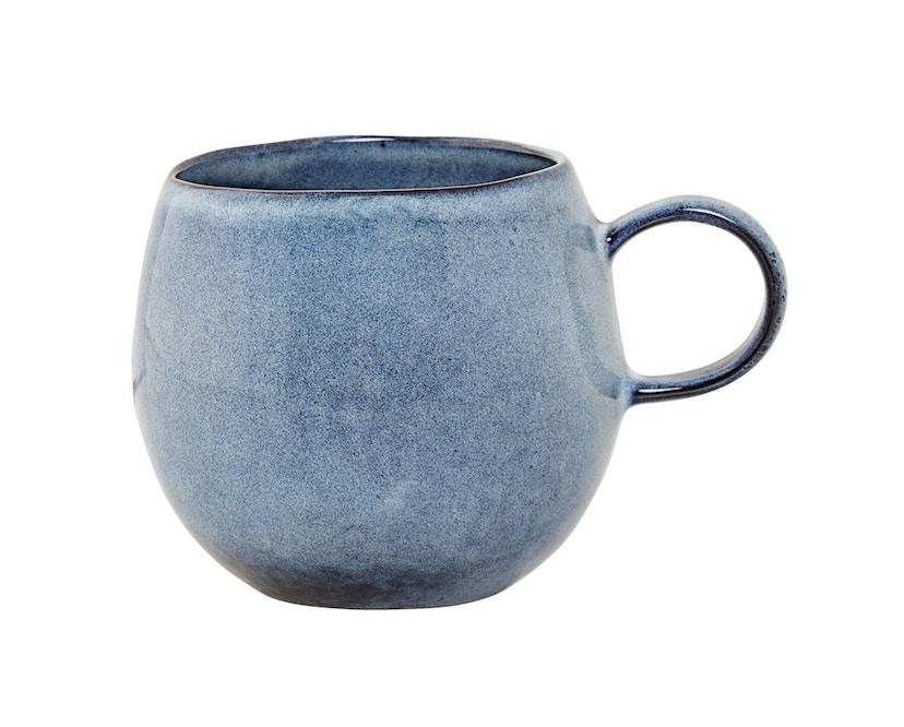 Bloomingville - Sandrine Becher, blau, Steinzeug - 0