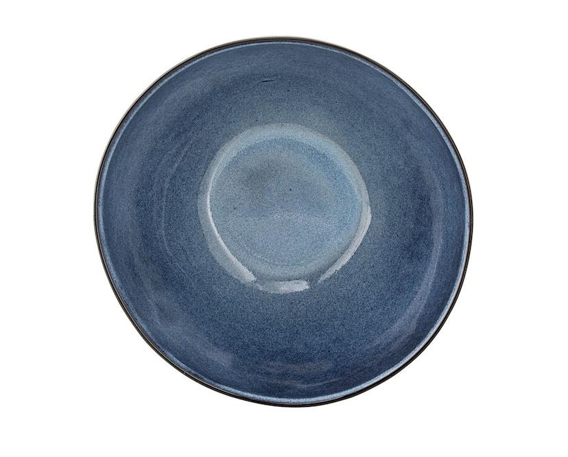 Bloomingville - Sandrine Schüssel - tief, Blau, Steinzeug - 0