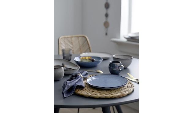 Bloomingville - Sandrine Schüssel - flach, Blau, Steinzeug - 2