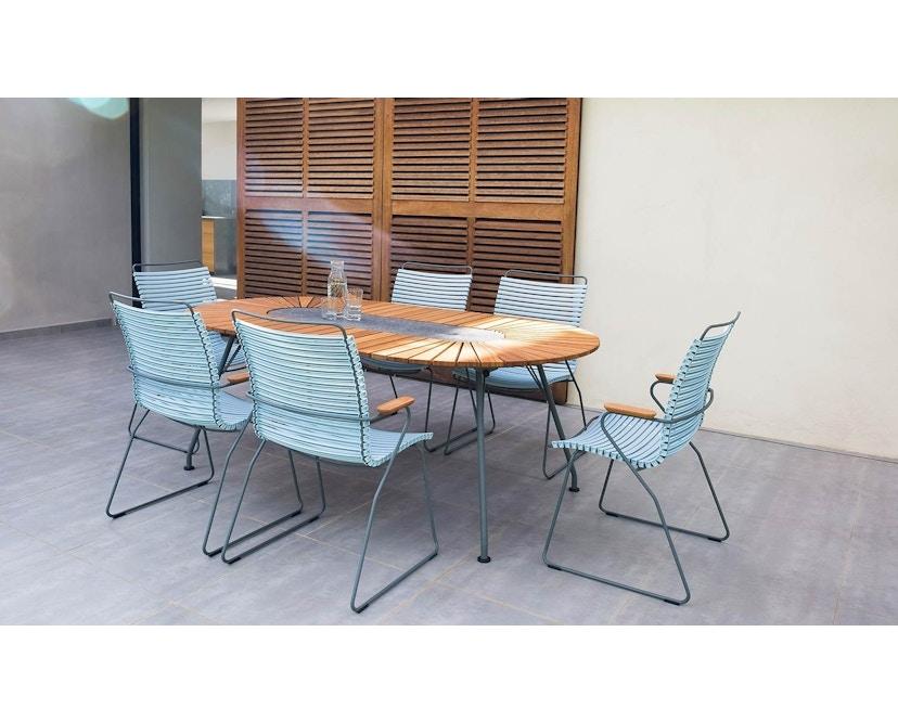 Houe - Click Dining Armlehnstuhl mit hoher Lehne - taubenblau - 5