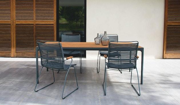 Houe - Click Dining Armlehnstuhl mit hoher Lehne - dunkelgrün - 5