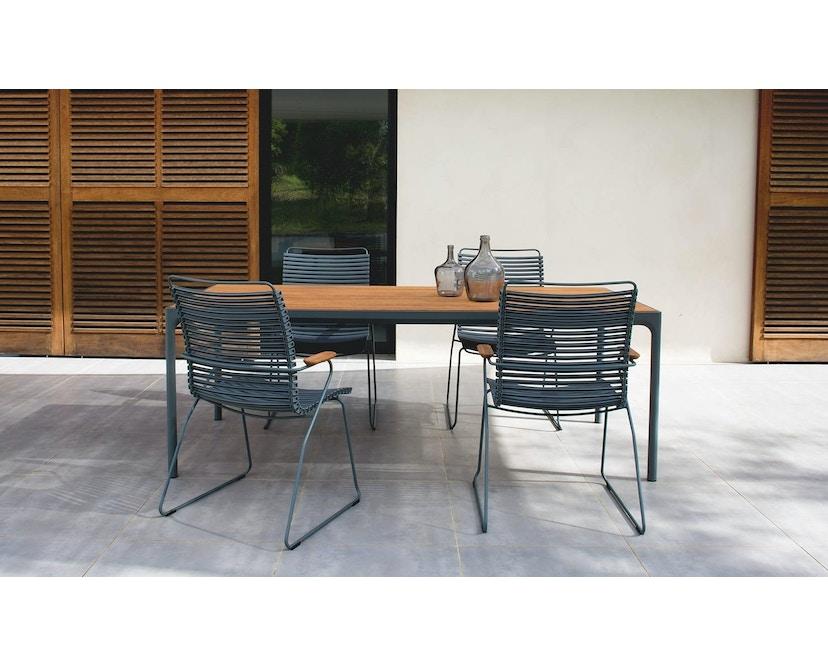 Houe - Click Dining Armlehnstuhl mit hoher Lehne - taubenblau - 6