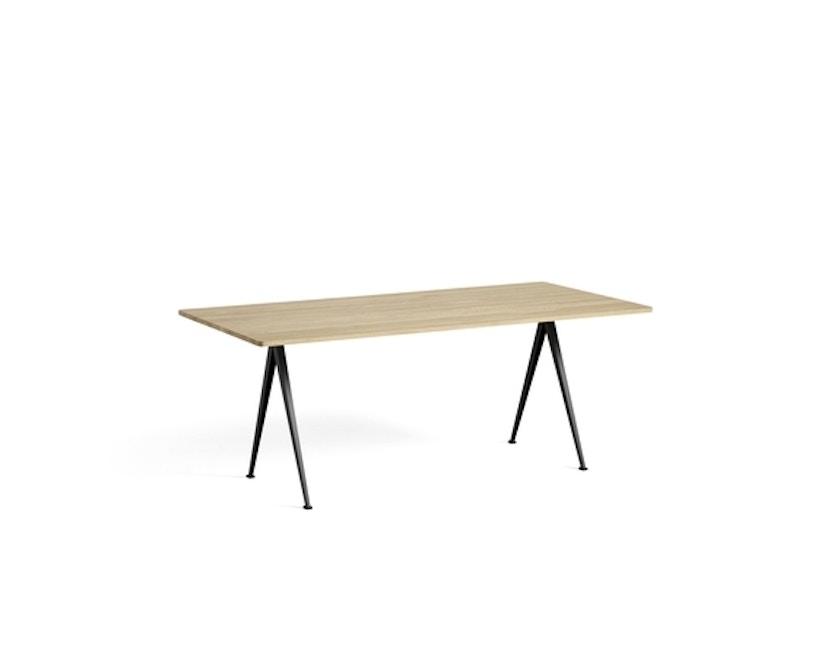 HAY - Pyramid Tisch - Eiche matt lackiert - Gestell schwarz - 190x85 cm - 2