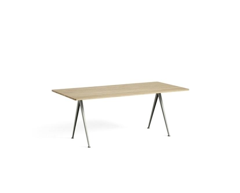 HAY - Pyramid Tisch - Eiche matt lackiert - Gestell beige - 190x85 cm - 2