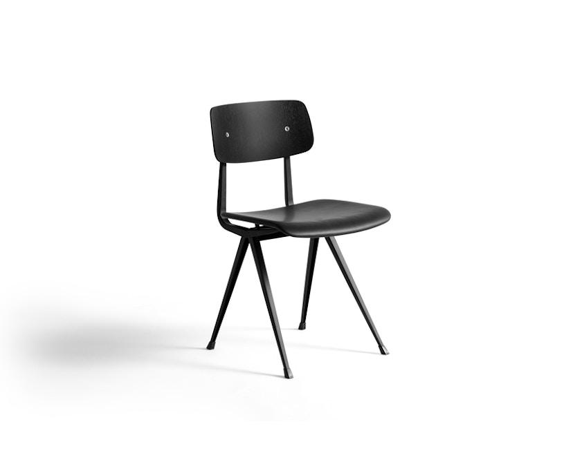 HAY - Result Stuhl gepolstert - Eiche schwarz gebeizt/Silo842 - 1